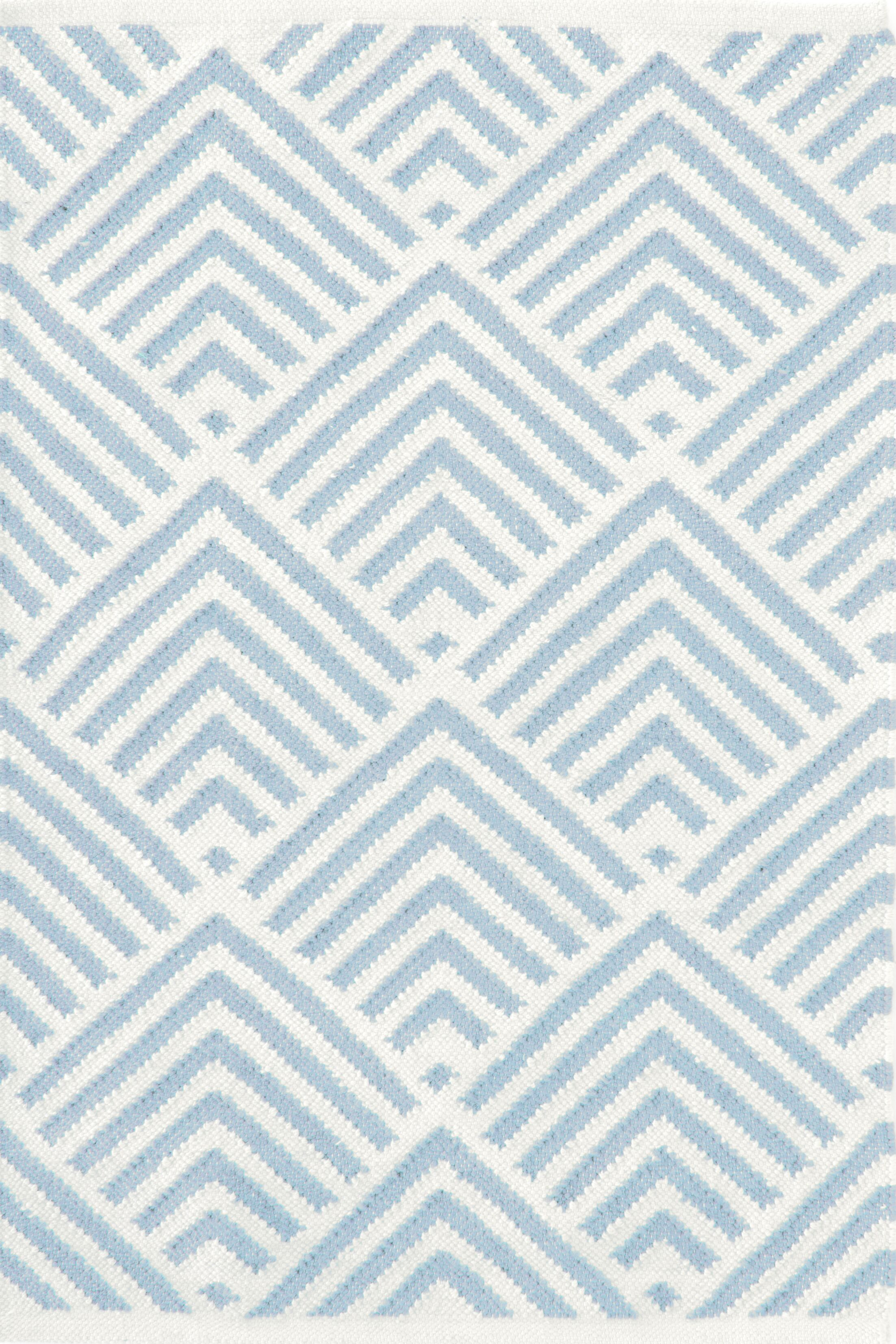 Cleo Blue & White Graphic Indoor/Outdoor Area Rug Rug Size: Rectangle 10' x 14'