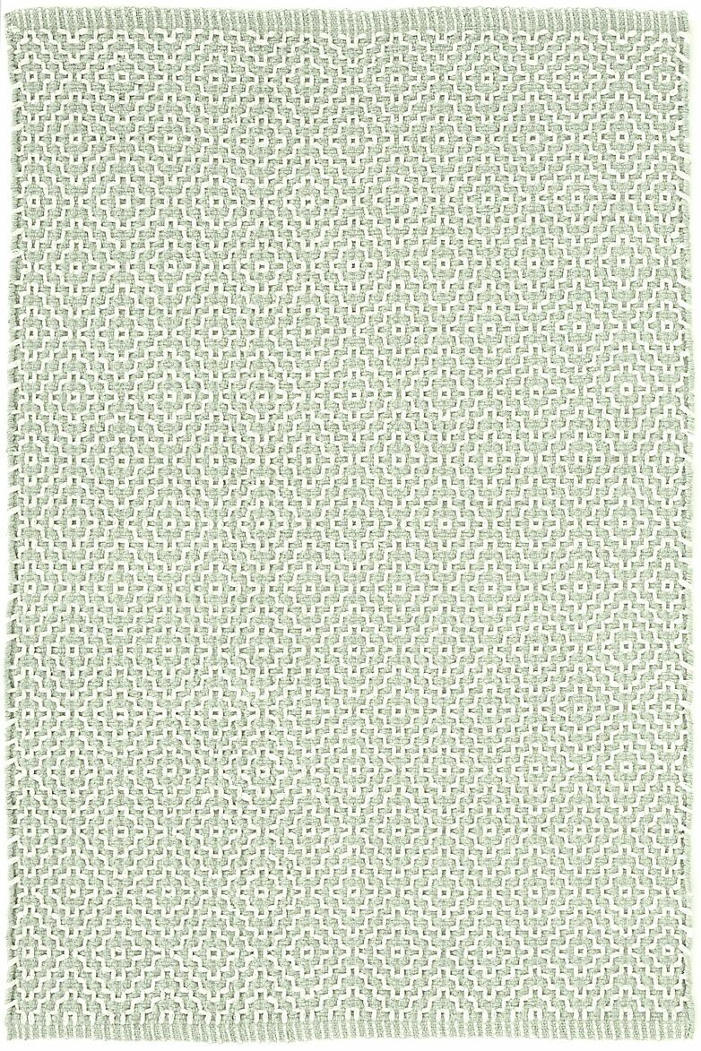 Beatrice Pale Hand-Woven Cotton Green Area Rug Rug Size: Runner 2'6