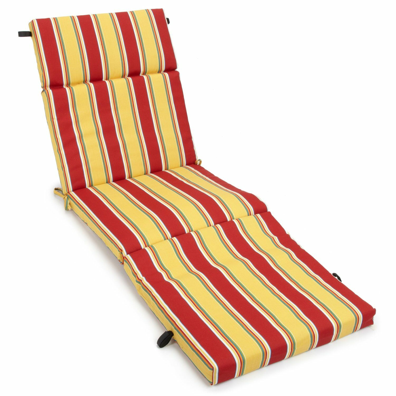 Haliwall Indoor/Outdoor Chaise Lounge Cushion Fabric: Multi
