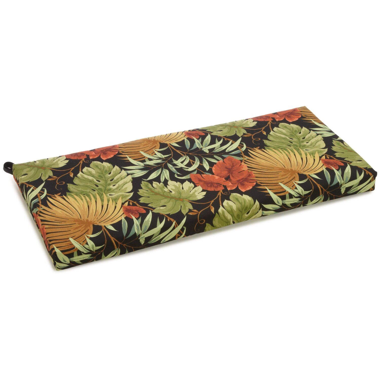 Tropique Indoor/Outdoor Bench Cushion Size: 3.5