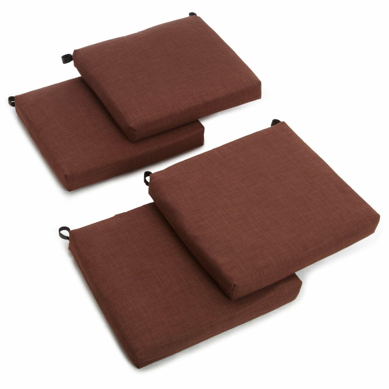 Indoor/Outdoor Adirondack Chair Cushion Fabric: Cocoa