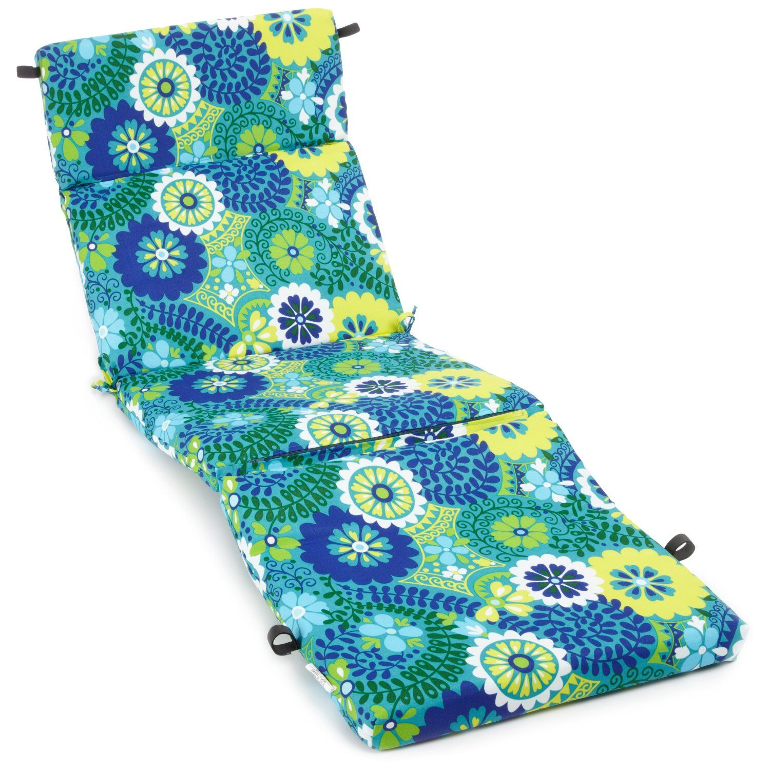 The Blazing Needles All-Weather UV-Resistant Patio Chaise Lounge Cushion is an excellent combination of comfort and convenience. This cushion is made from high-quality materials, and this makes it water- and weather- resistant. It is available in a va...