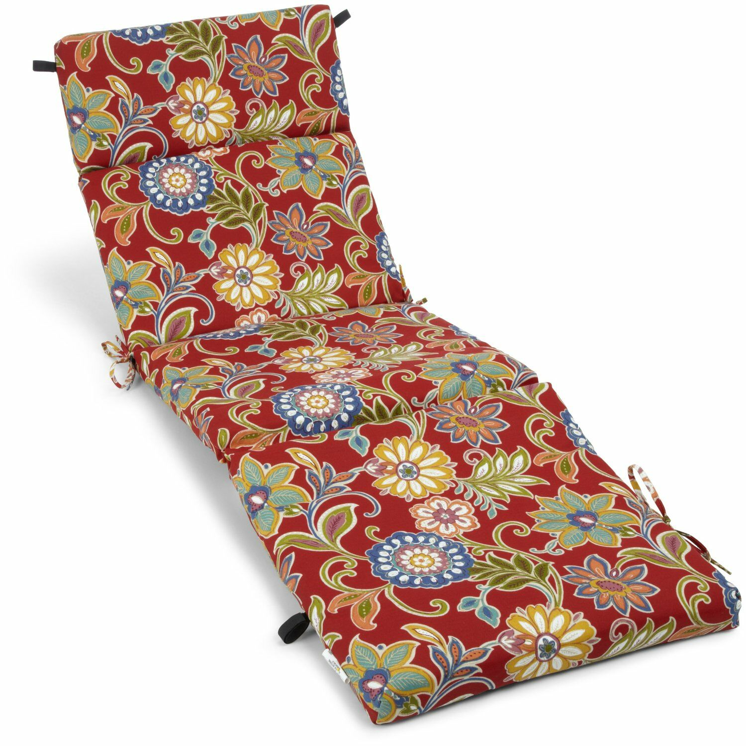 Indoor/Outdoor Chaise Lounge Cushion Fabric: Alenia Pompeii