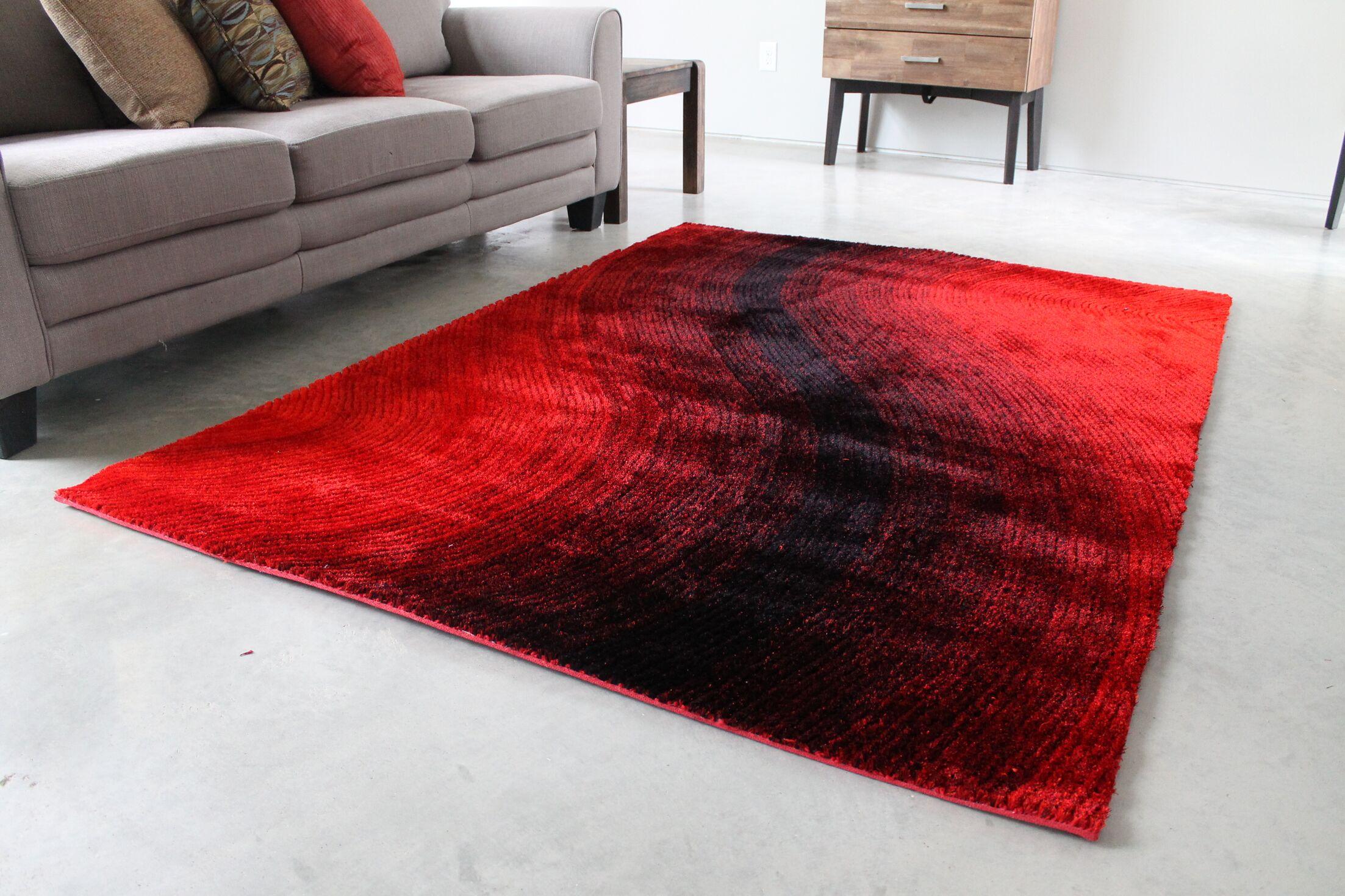 Red/Black Area Rug