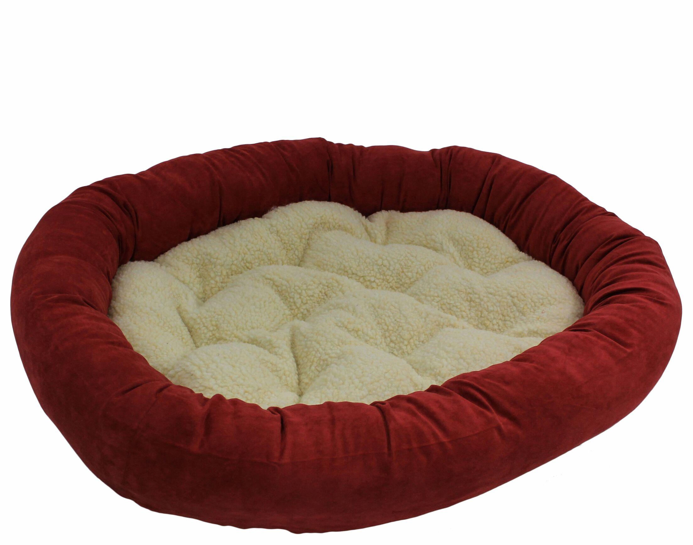 Montoya Microsuede Medium Dog Bed Color: Cardinal Red