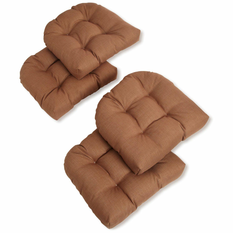 Indoor/Outdoor Chair/Rocker Cushion Fabric: Mocha