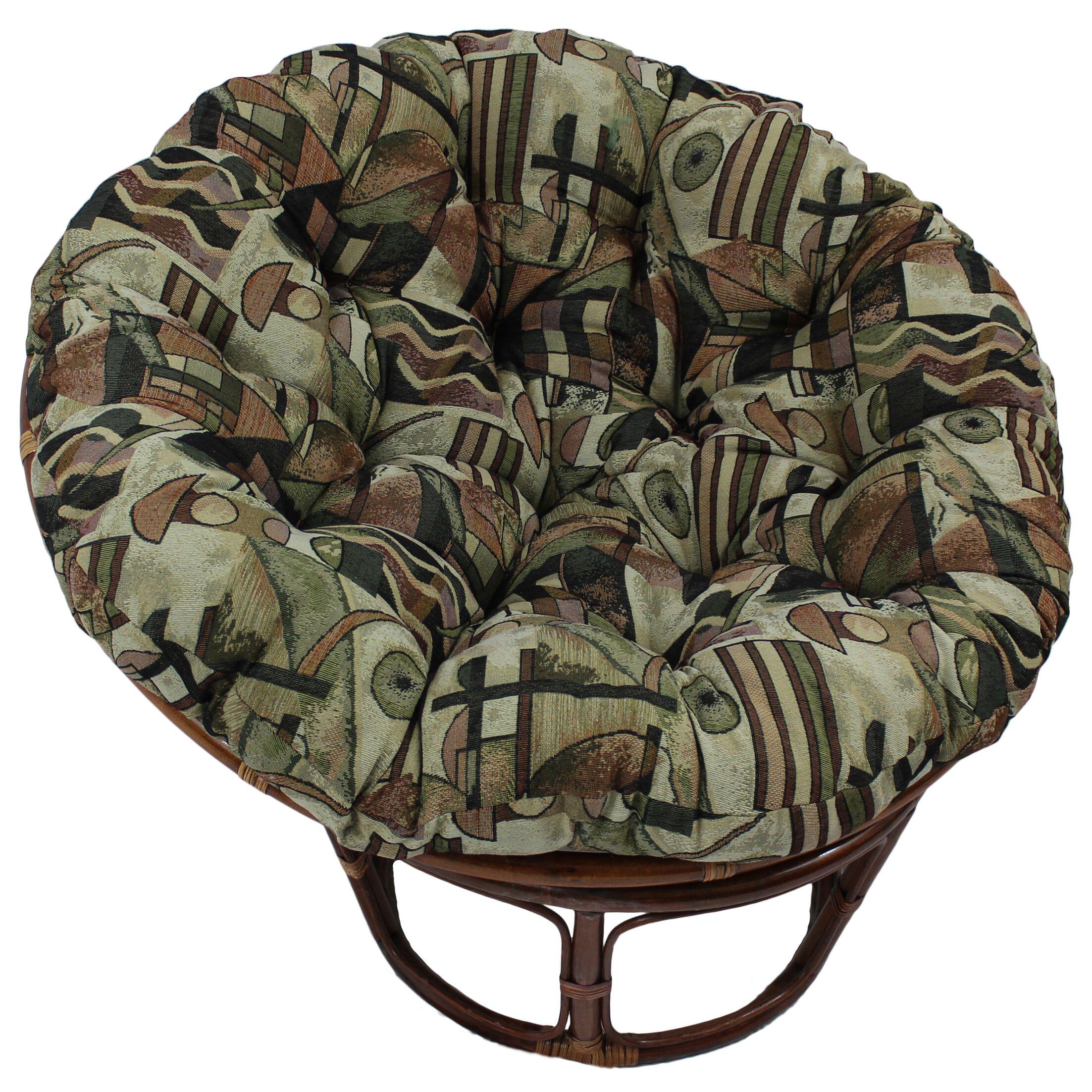 Papasan Chair Cushion Fabric: Cheetah, Size: 6