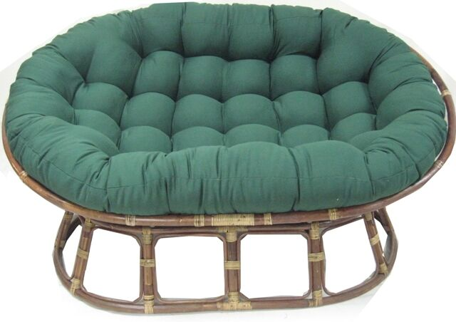 Indoor Papasan Cushion Color: Black