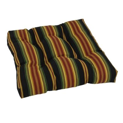 Designer Patio Rocking Chair Cushion Fabric: Lyndhurst Raven
