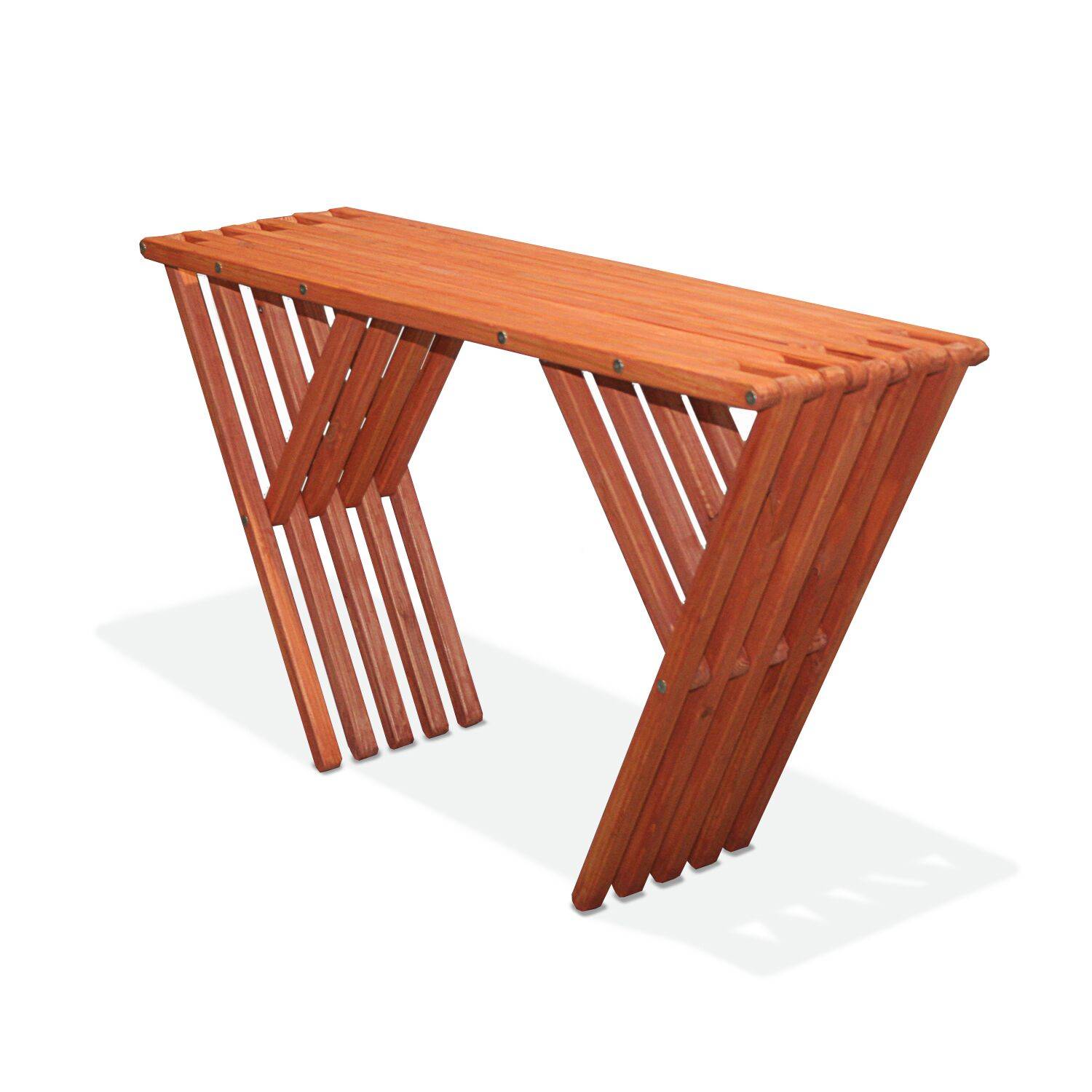 Xquare Eco Friendly Console Table X60 Finish: Buffalo Wing