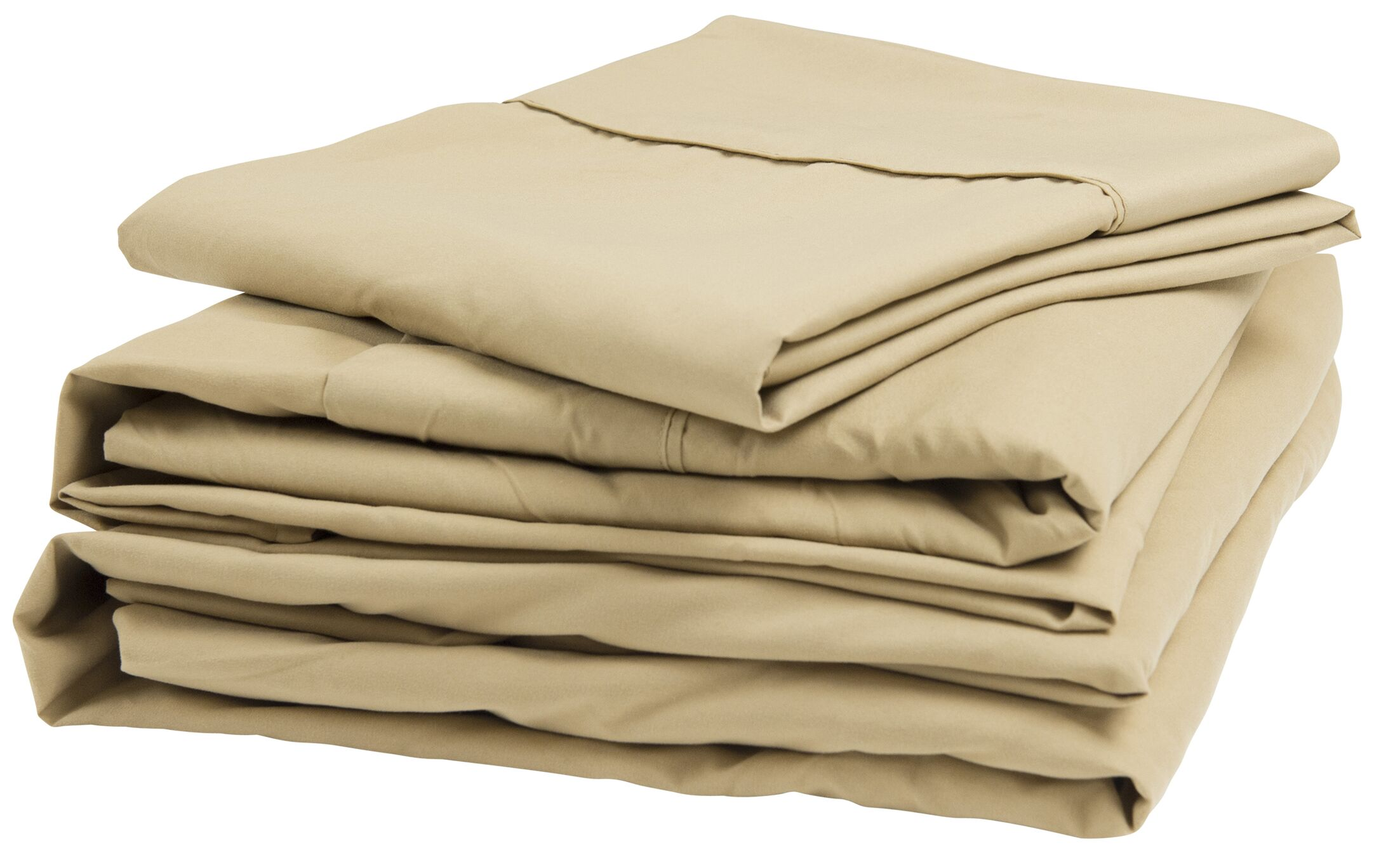 300 Thread Count 100% Cotton Sheet Set Size: Short Queen, Color: Latte
