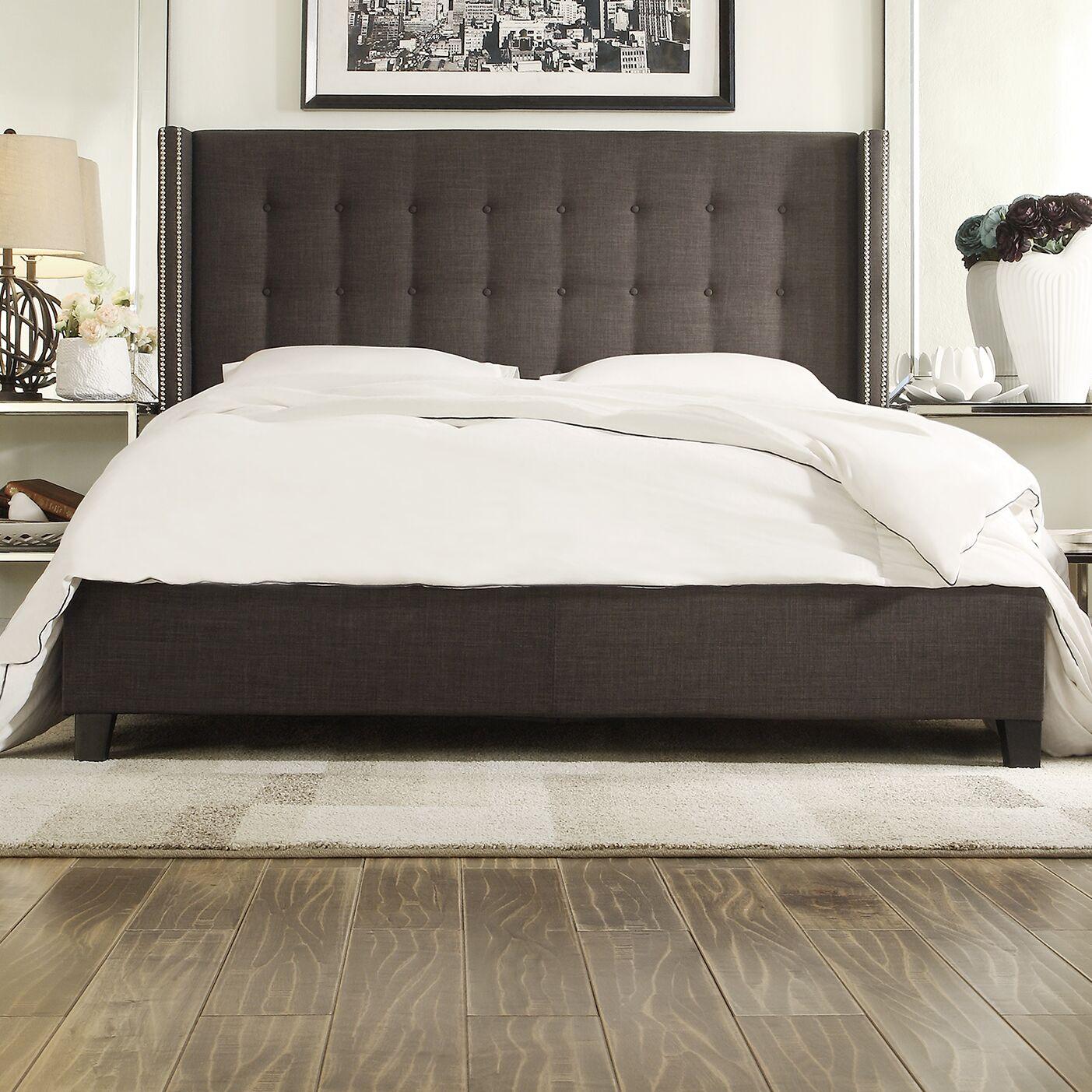 Obsidian Upholstered Platform Bed Size: Full