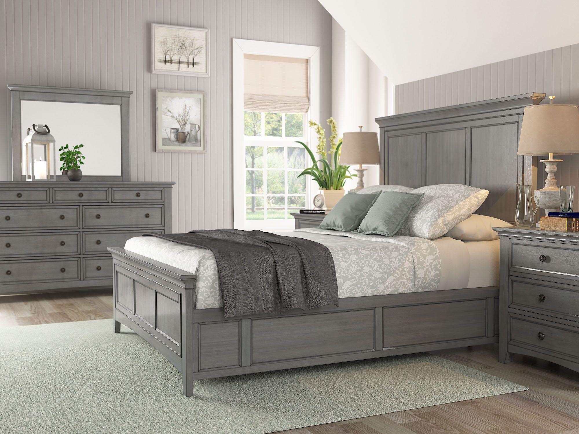 Sefton Platform Bed Color: Antique Gray, Size: King