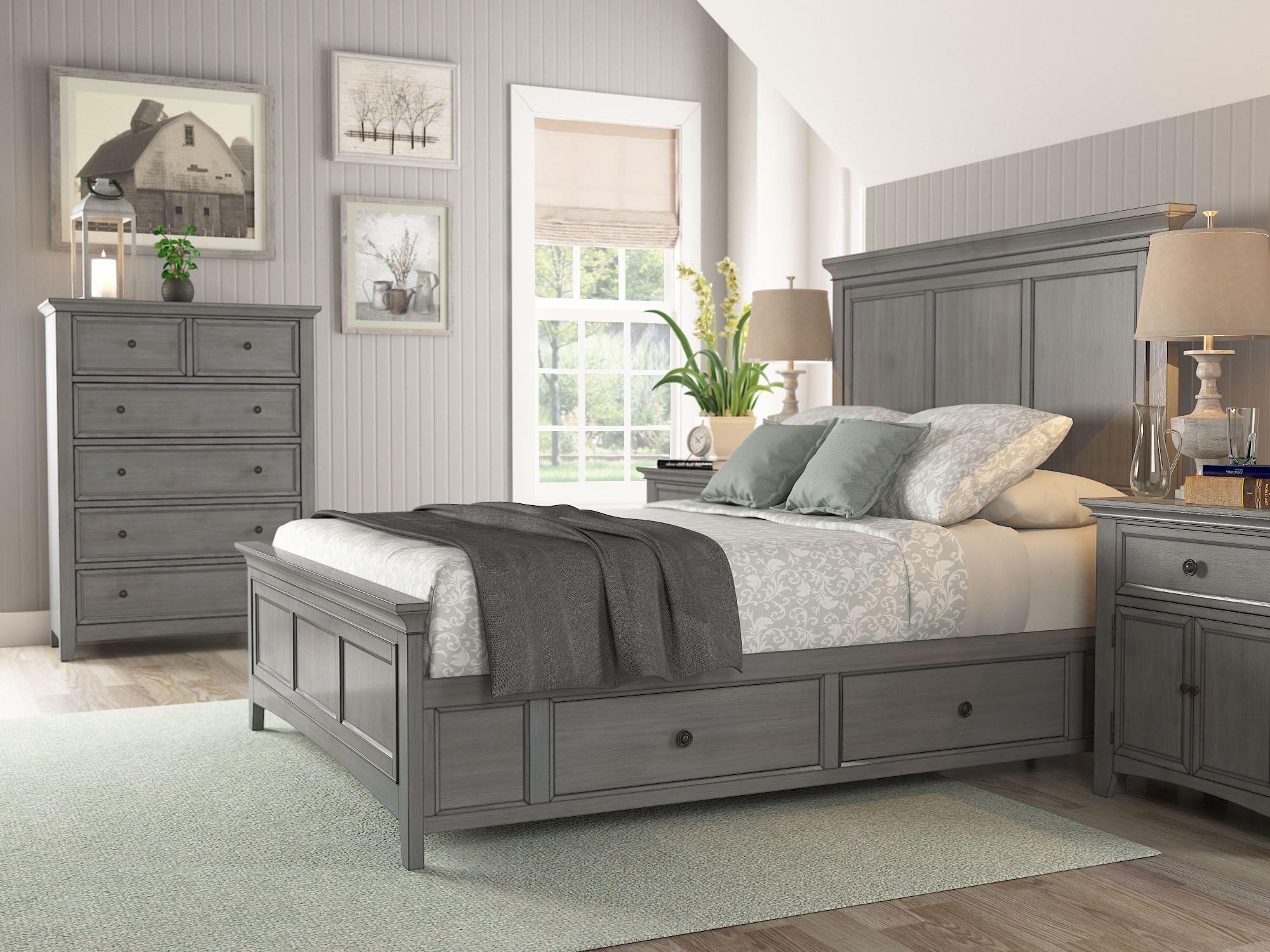 Sefton Storage Platform Bed Color: Antique Gray, Size: Queen