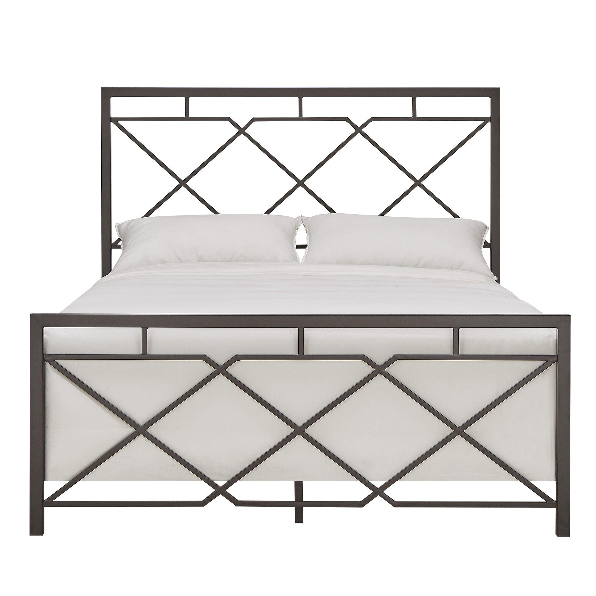 Ingersoll Metal Panel Bed Size: King