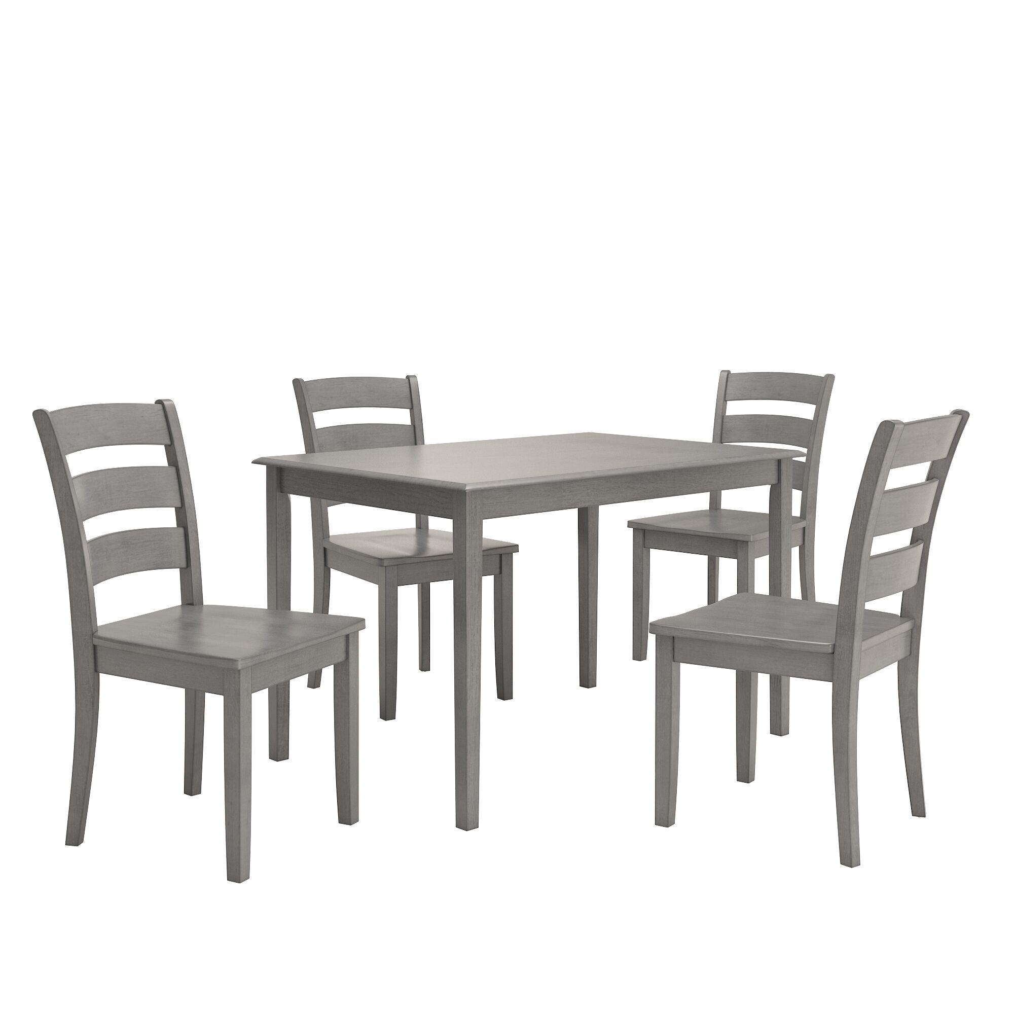 Alverson 5 Piece Dining Set Color: Antique Gray