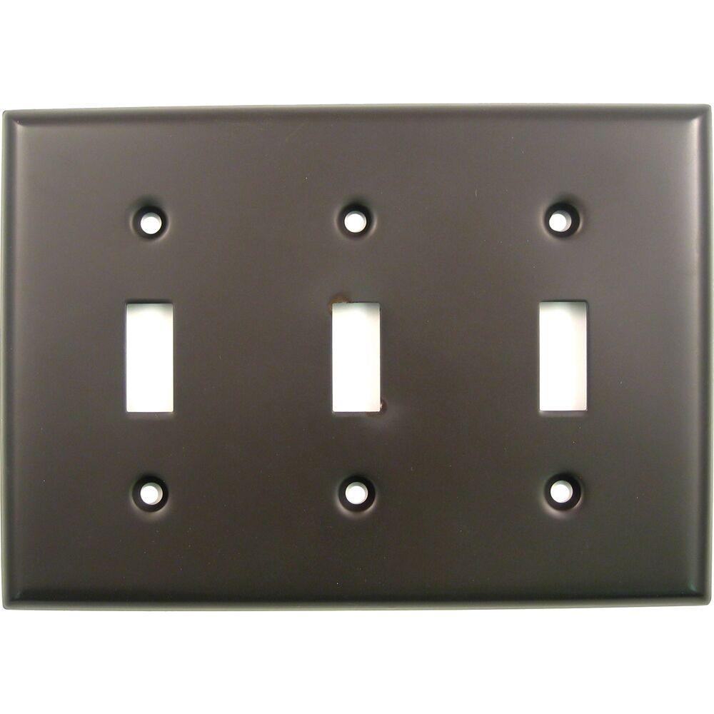 Triple Switch Plate Finish: Oil Rubbed Bronze