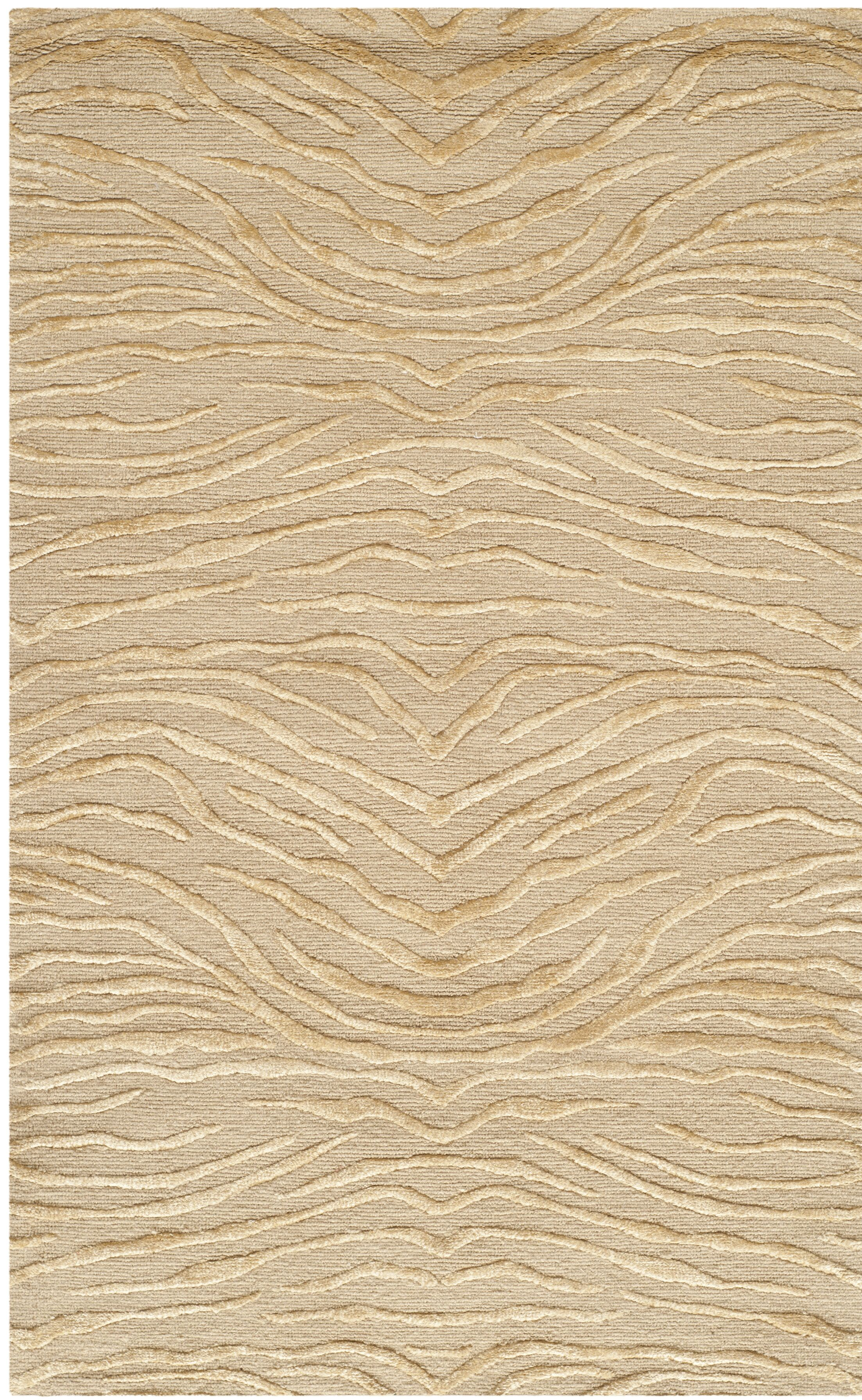 Hand-Tufted Sand Area Rug Rug Size: Rectangle 2'6