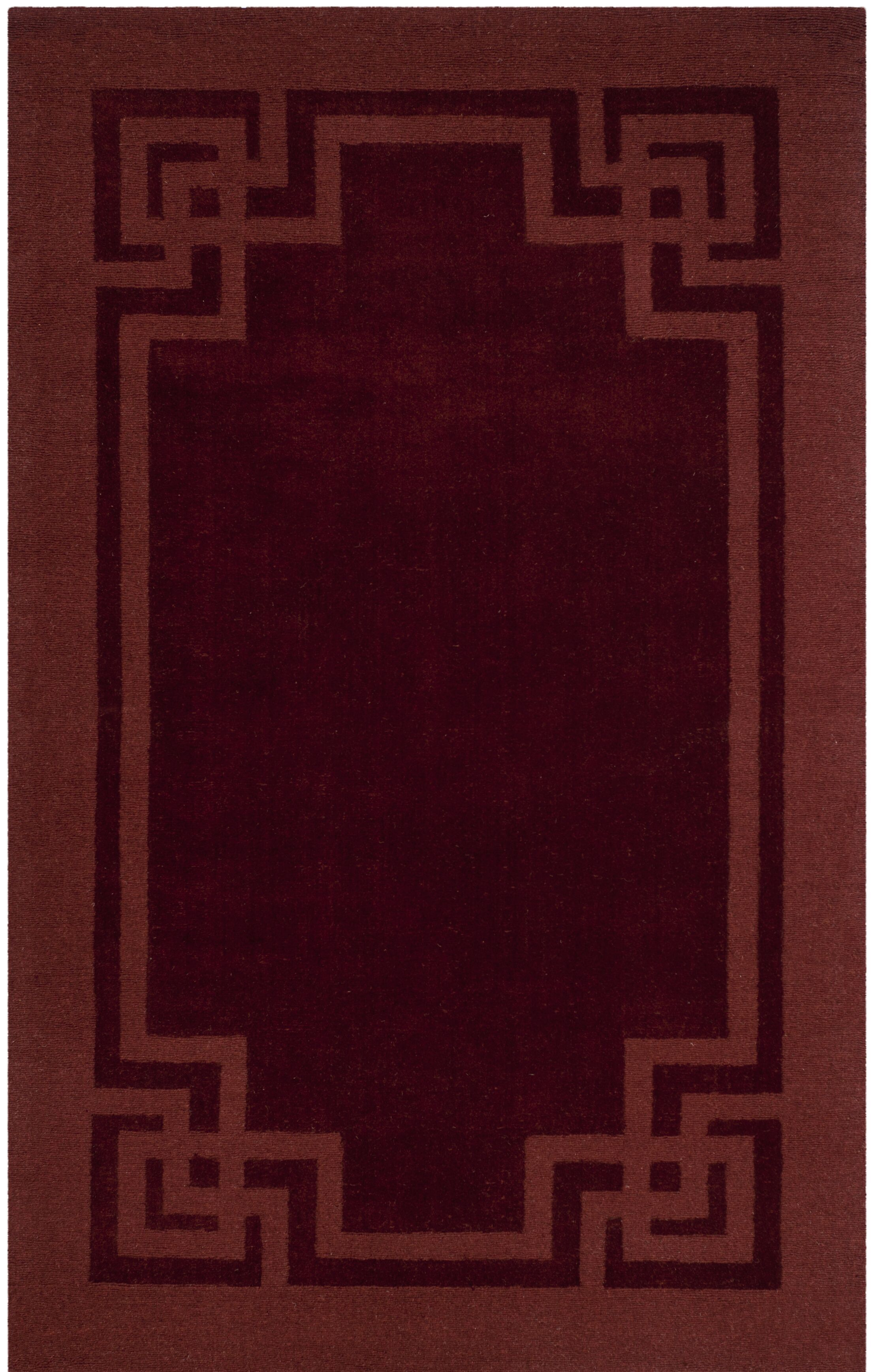 Deco Tufted-Hand-Loomed Red/Brown Area Rug Rug Size: Rectangle 8' x 10'