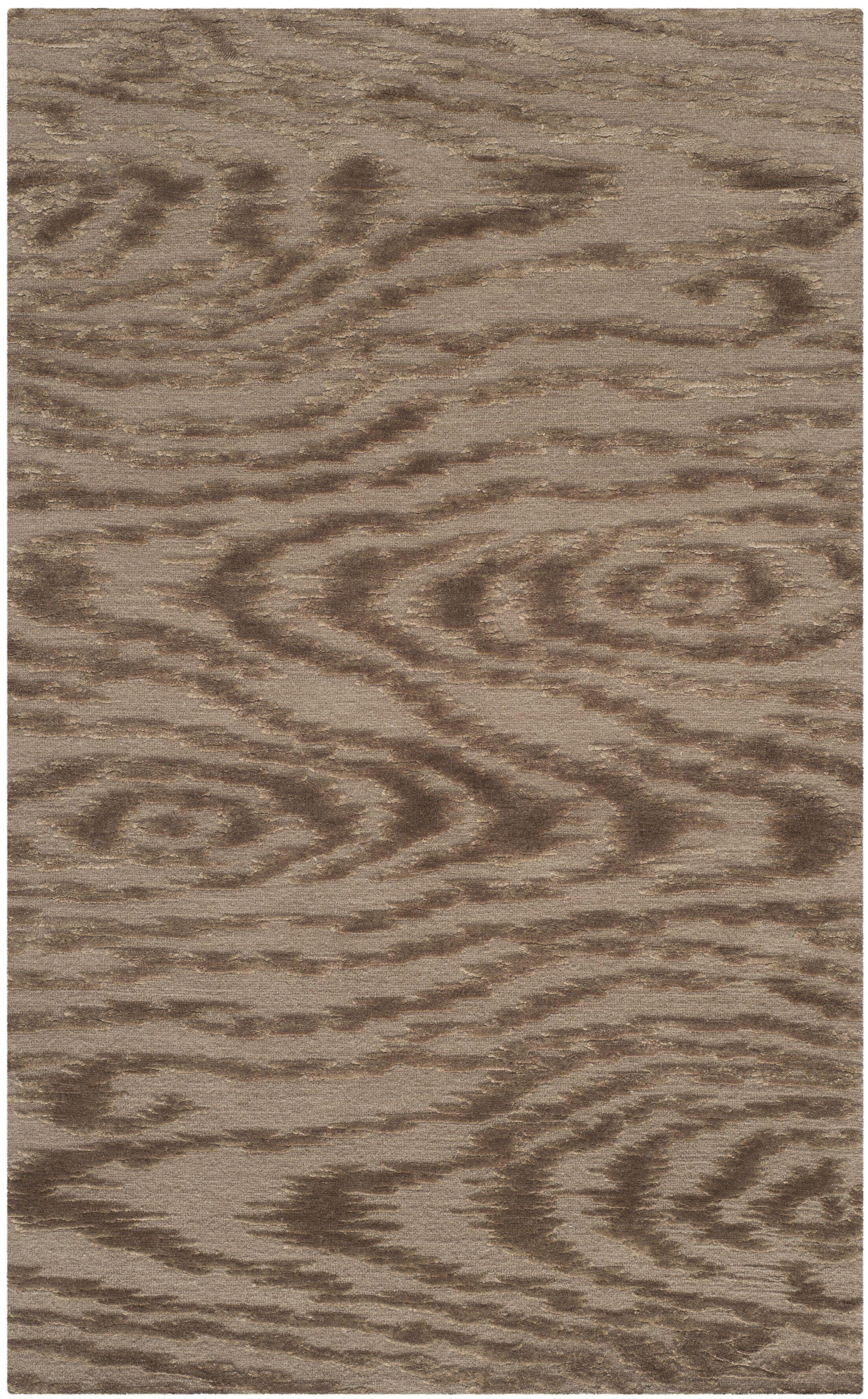 Martha Stewart Faux Bois Truffle Area Rug Rug Size: Rectangle 5'6