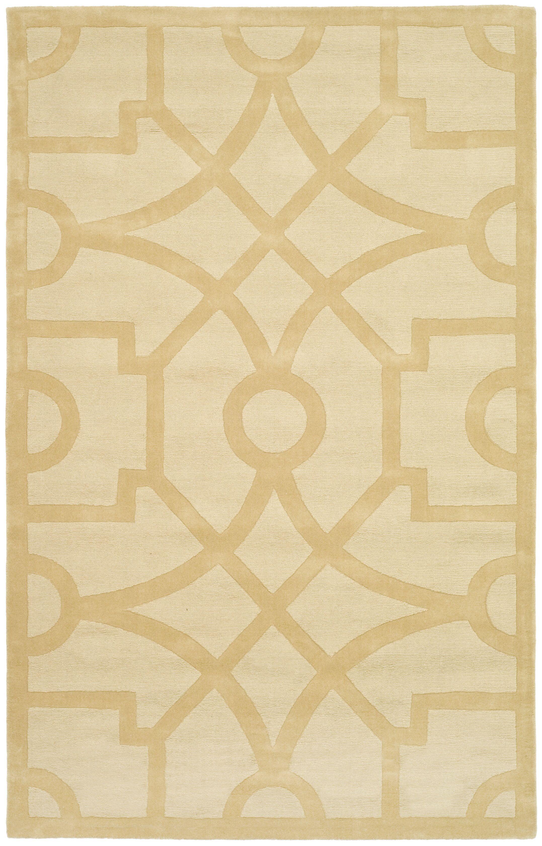 Martha Stewart Fretwork Gravel Area Rug Rug Size: Rectangle 3' x 5'
