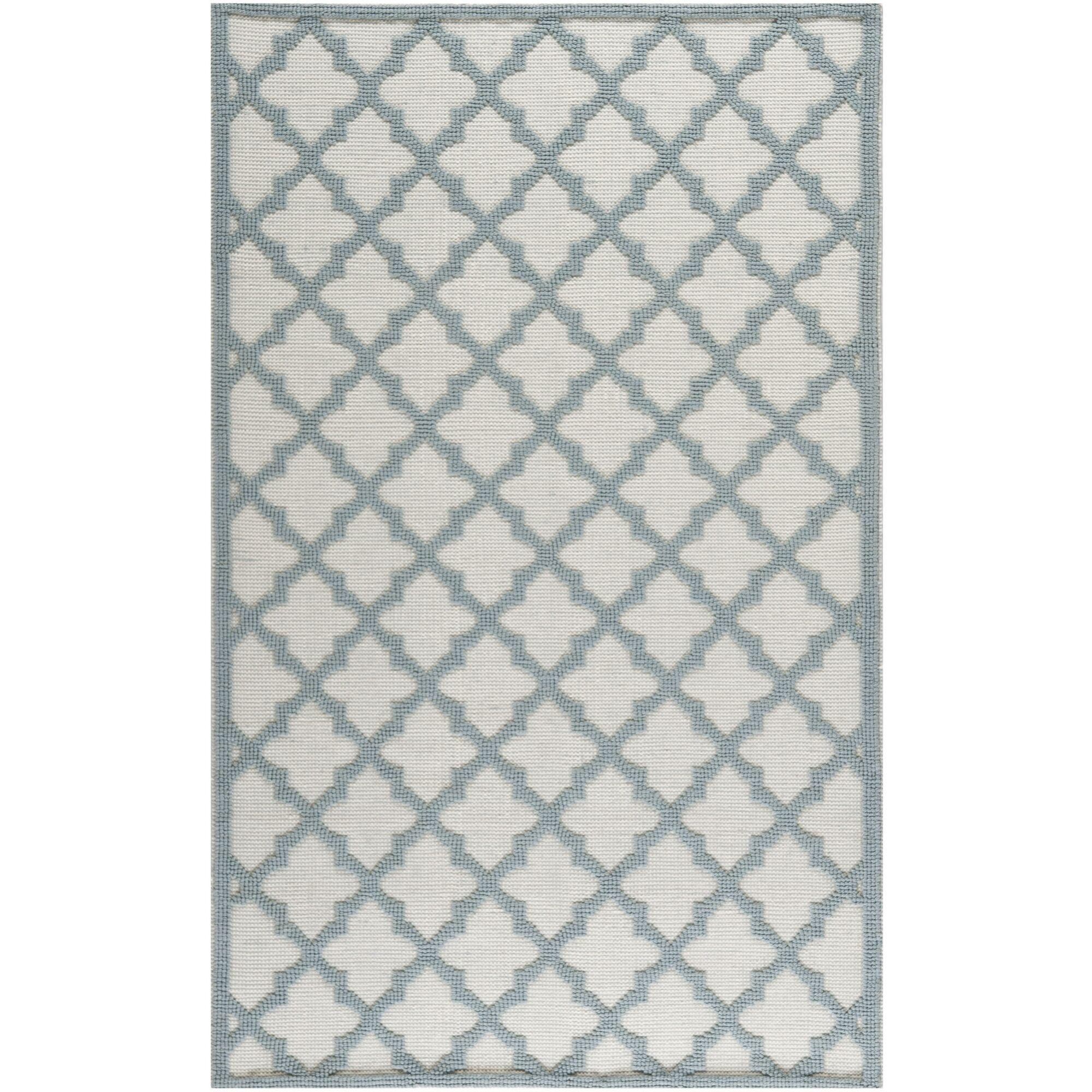 Martha Stewart Puzzle Floral Ivory/Blue  Rug Rug Size: Rectangle 8' x 10'