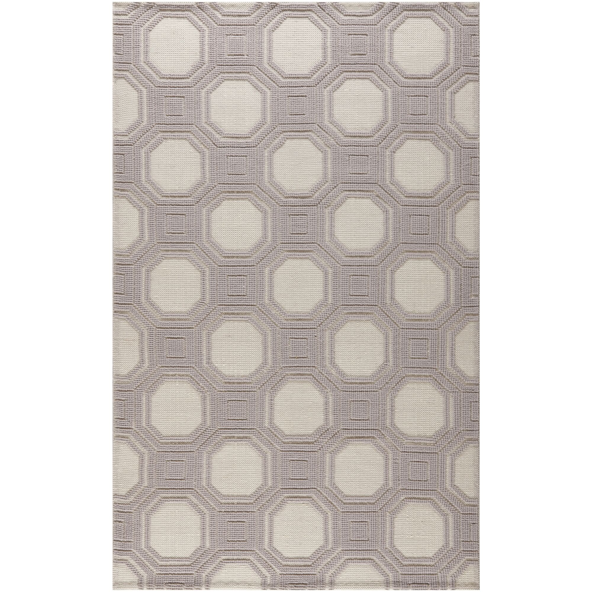 Martha Stewart Puzzle Floral Ivory/Purple Area Rug Rug Size: Rectangle 4' x 6'