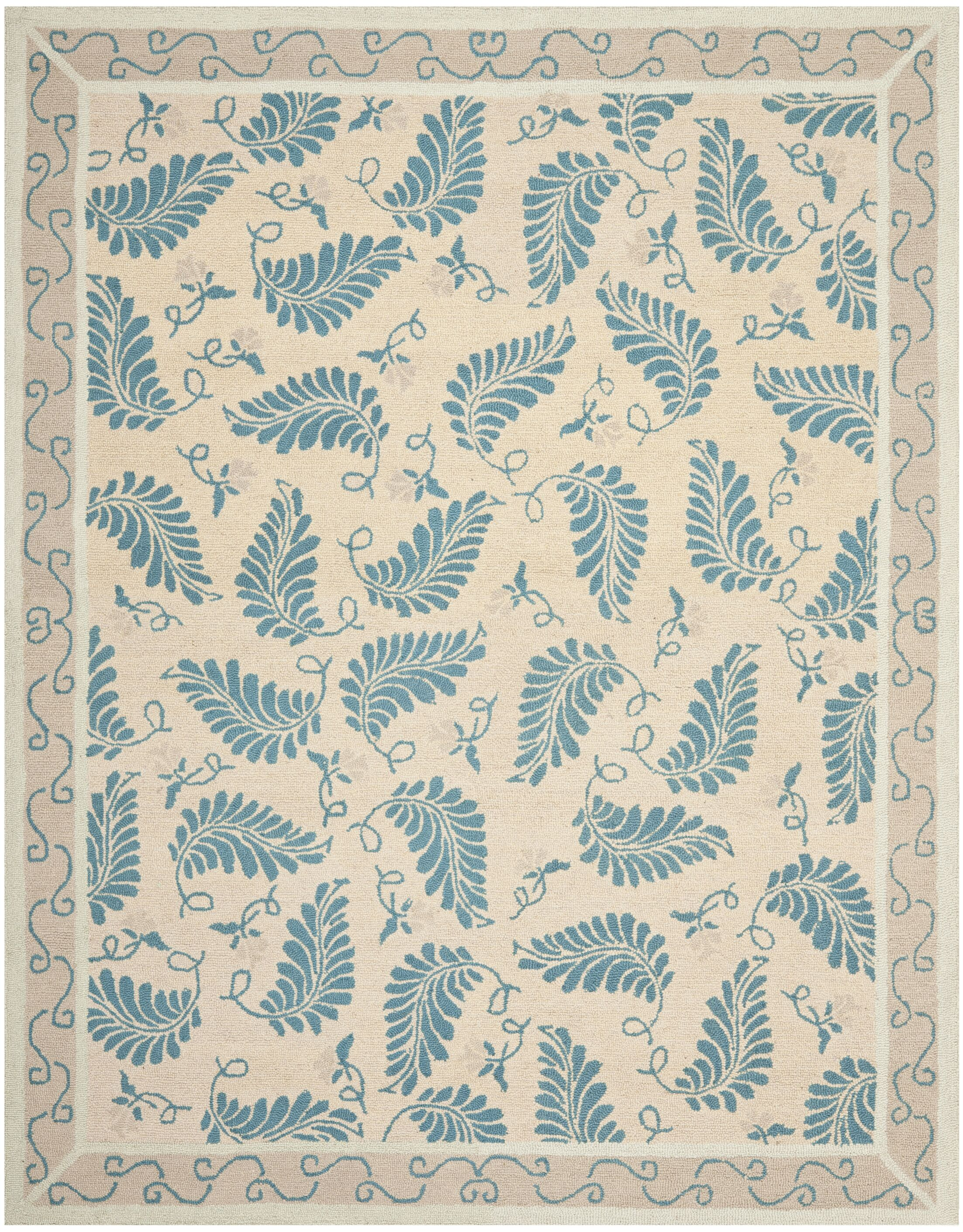 Martha Stewart Plumage Blue Area Rug Rug Size: Rectangle 9' x 12'
