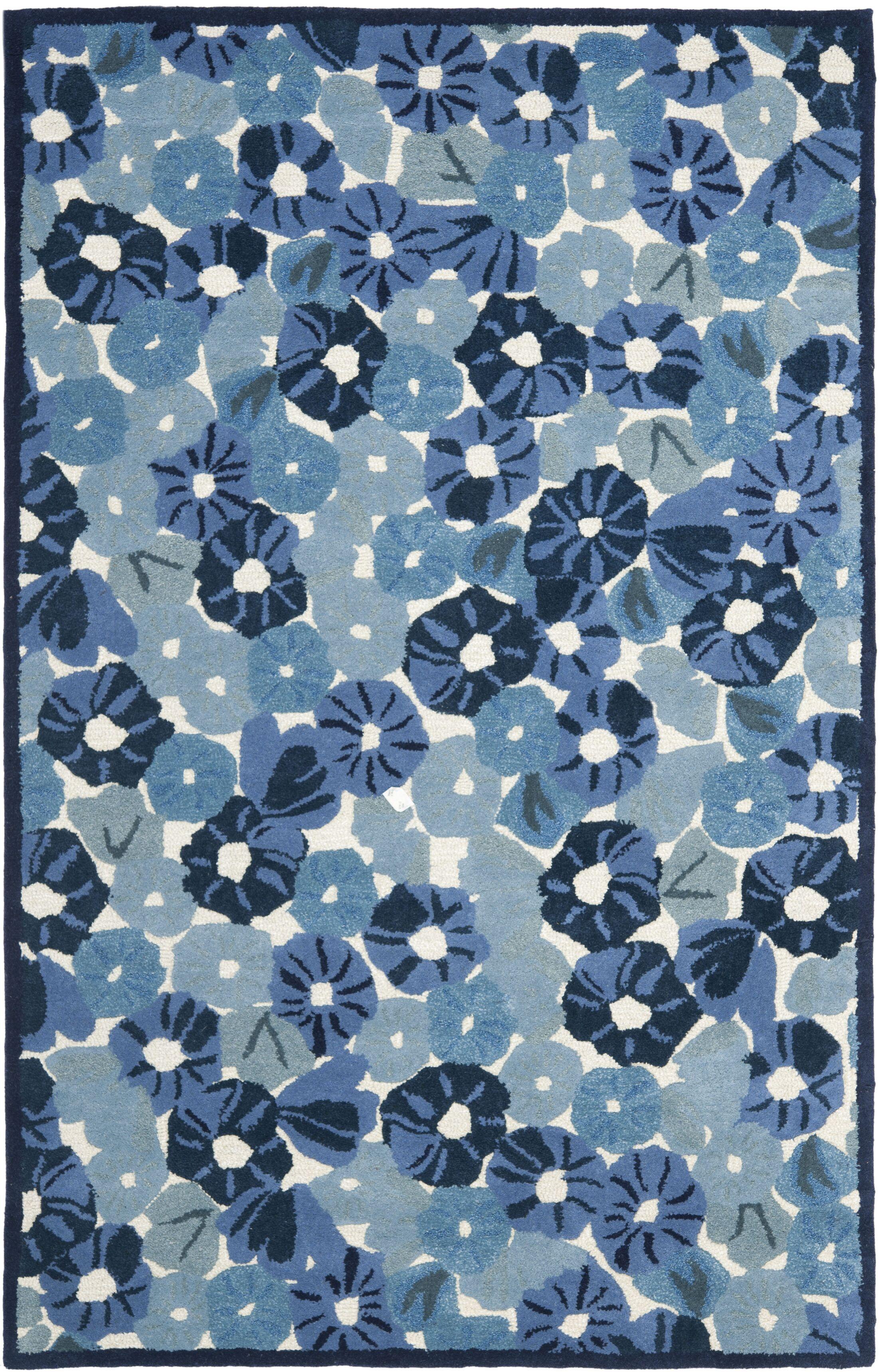 Martha Stewart Azurite Blue Area Rug Rug Size: Rectangle 4' x 6'