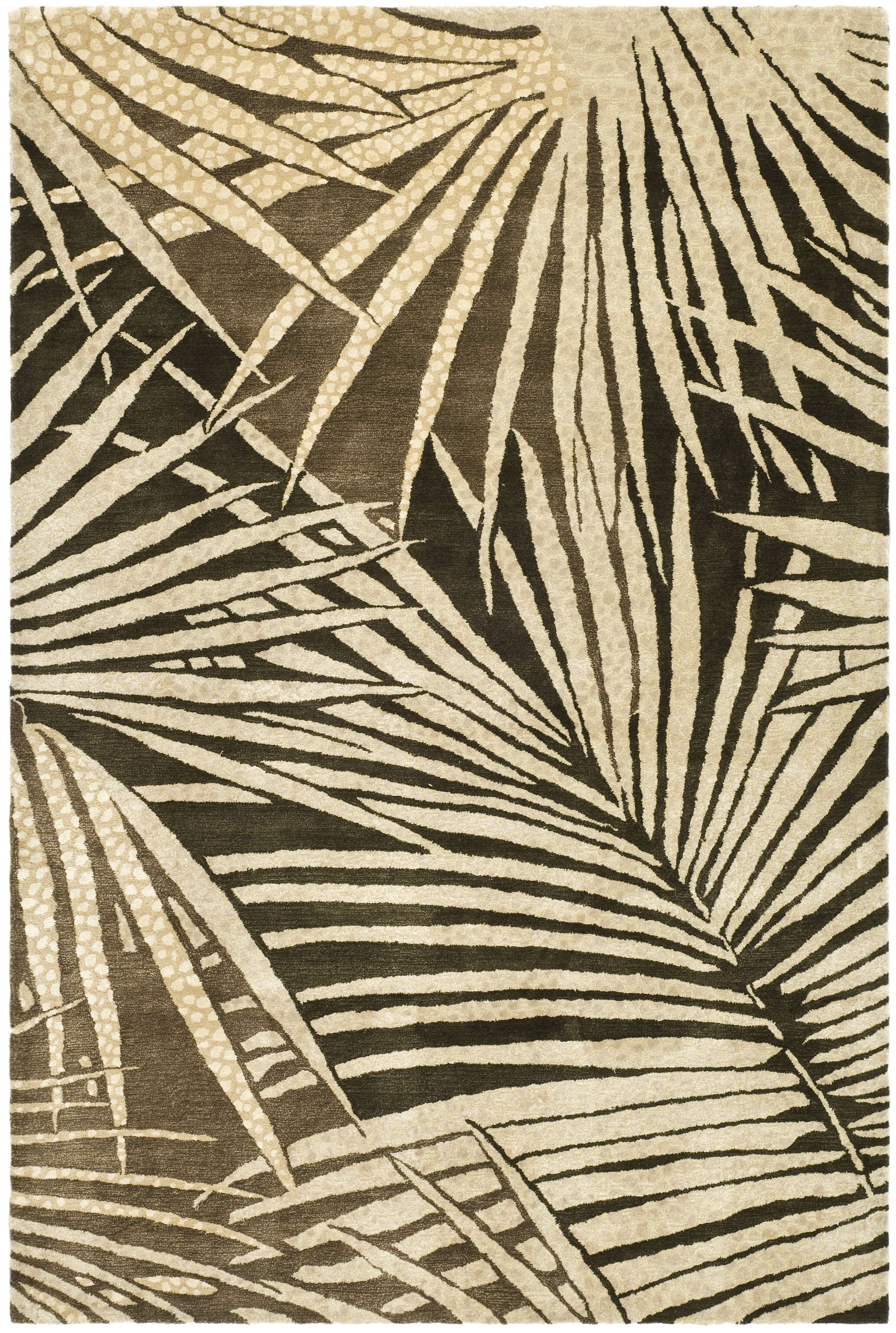 Martha Stewart Coconut/Brown Area Rug Rug Size: Rectangle 3'9