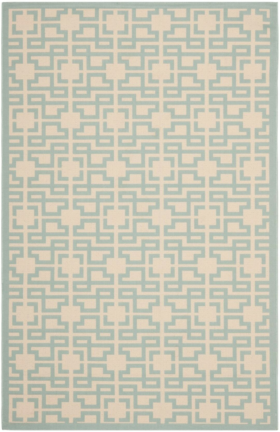 Martha Stewart Teal Area Rug Rug Size: Rectangle 4' x 5'7