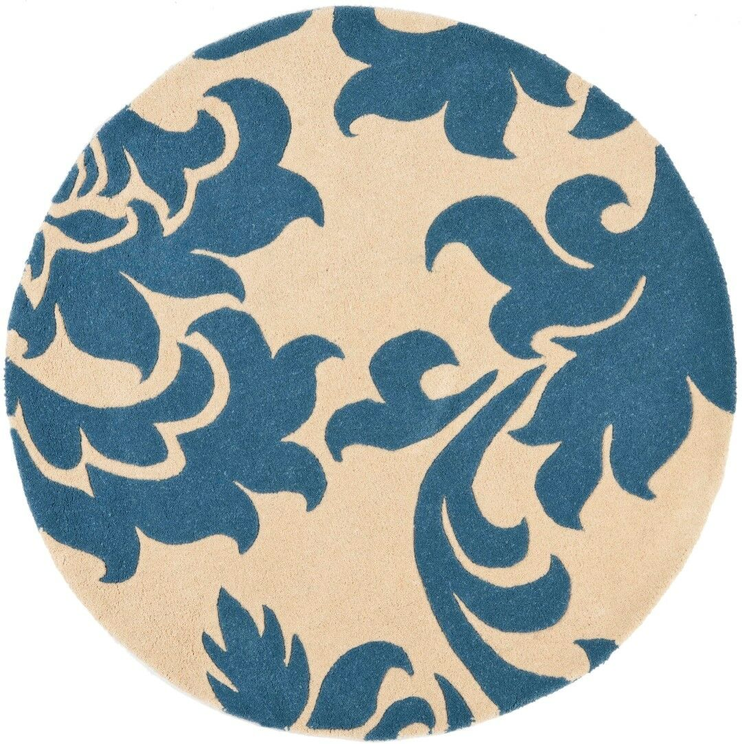 Martha Stewart Barcelona Tufted / Hand Loomed Blue/Beige Area Rug Rug Size: Rectangle 9' x 12'