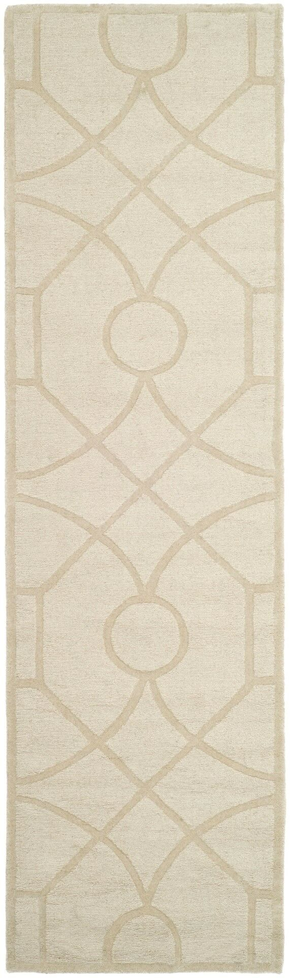 Martha Stewart Fretwork Hand Loomed Beige Area Rug Rug Size: Rectangle 8' x 10'