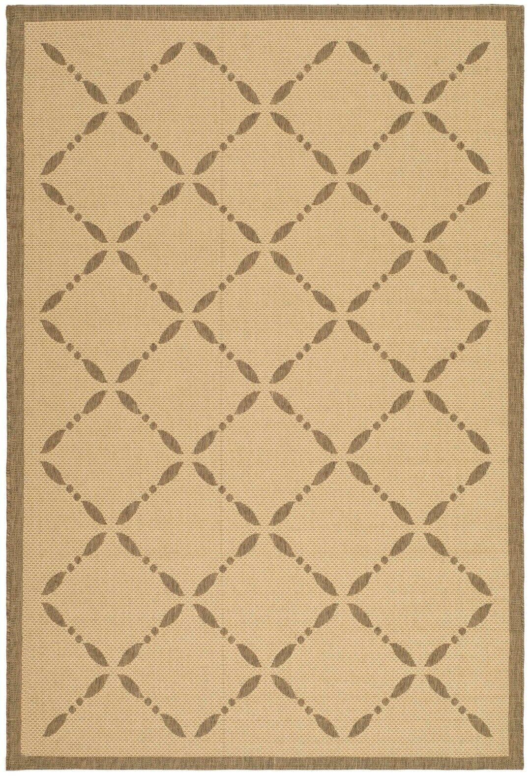 Martha Stewart Creme/Brown Area Rug Rug Size: Rectangle 4' x 5'7