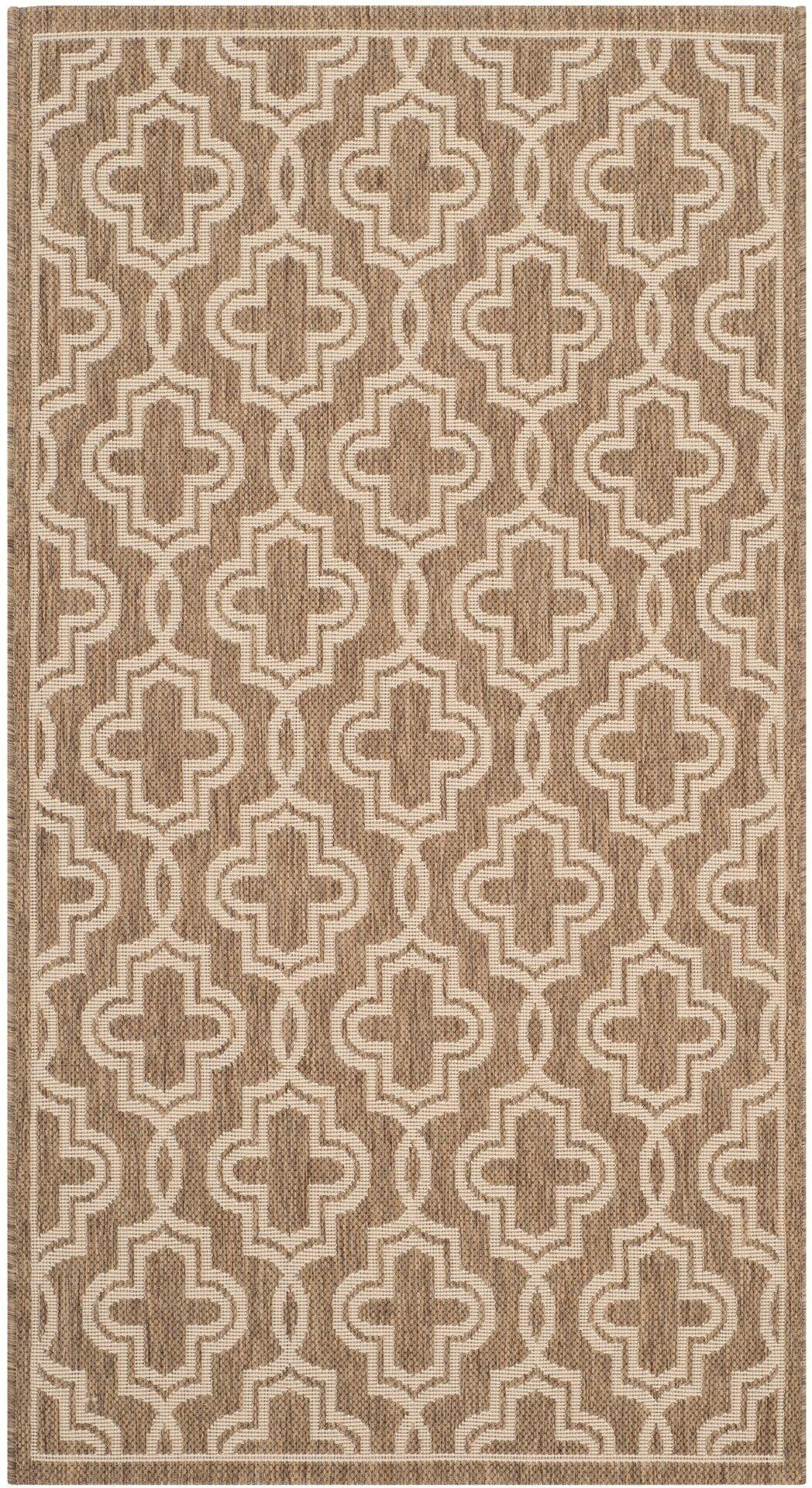 Martha Stewart Brown/Beige Area Rug Rug Size: Rectangle 4' x 5'7