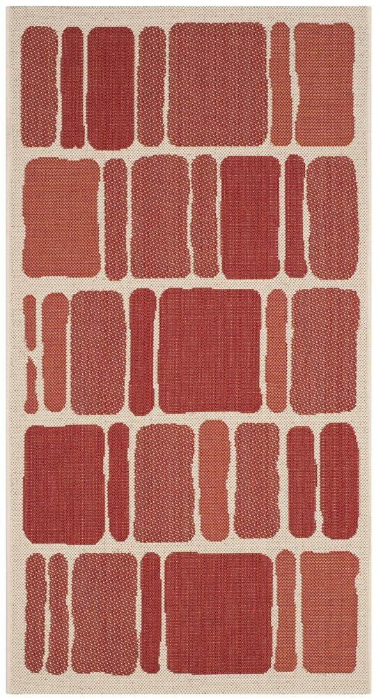 Martha Stewart Blocks Red Area Rug Rug Size: Rectangle 4' x 5'7