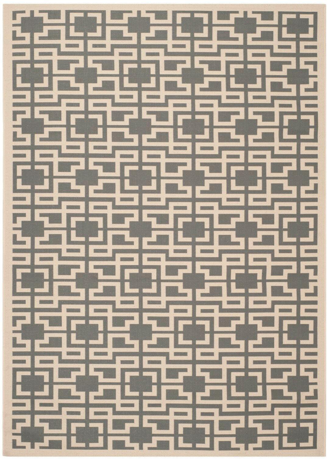 Martha Stewart Anthracite/Beige Area Rug Rug Size: Rectangle 6'7