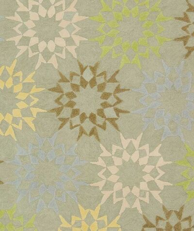 Floral Block Quilt Opal Grey Rug Rug Size: Rectangle 9'6
