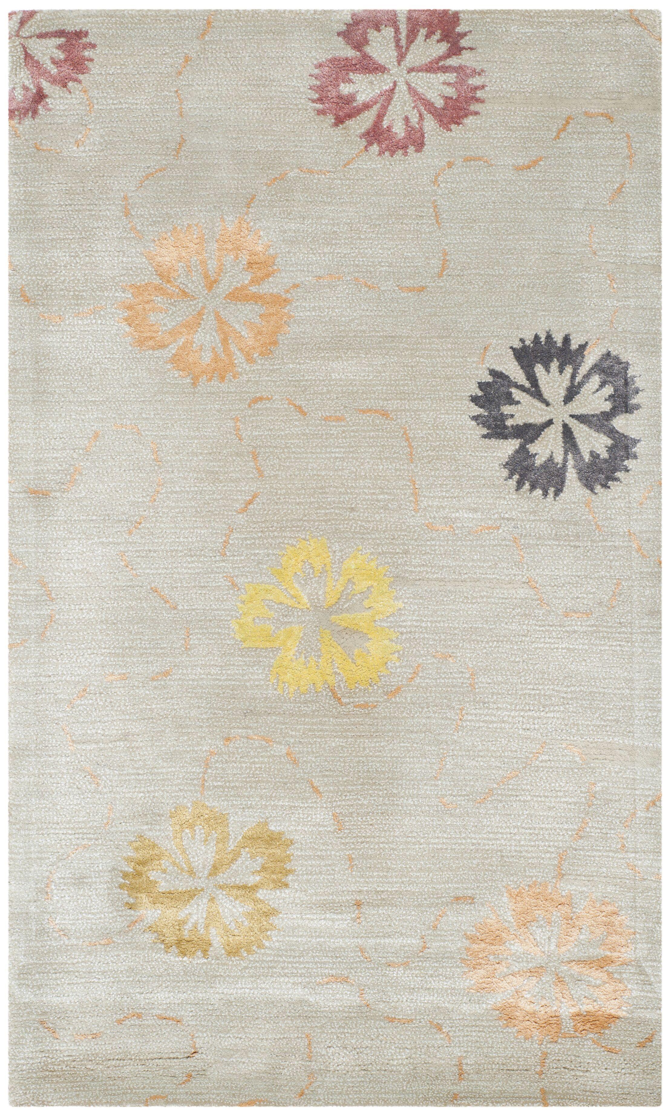 Martha Stewart Pearl / Gray Area Rug Rug Size: Rectangle 5'6