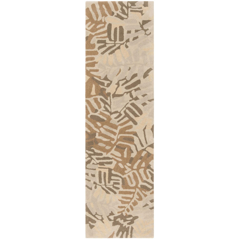 Palm Leaf Hand-Loomed Spud Area Rug Rug Size: Runner 2'3