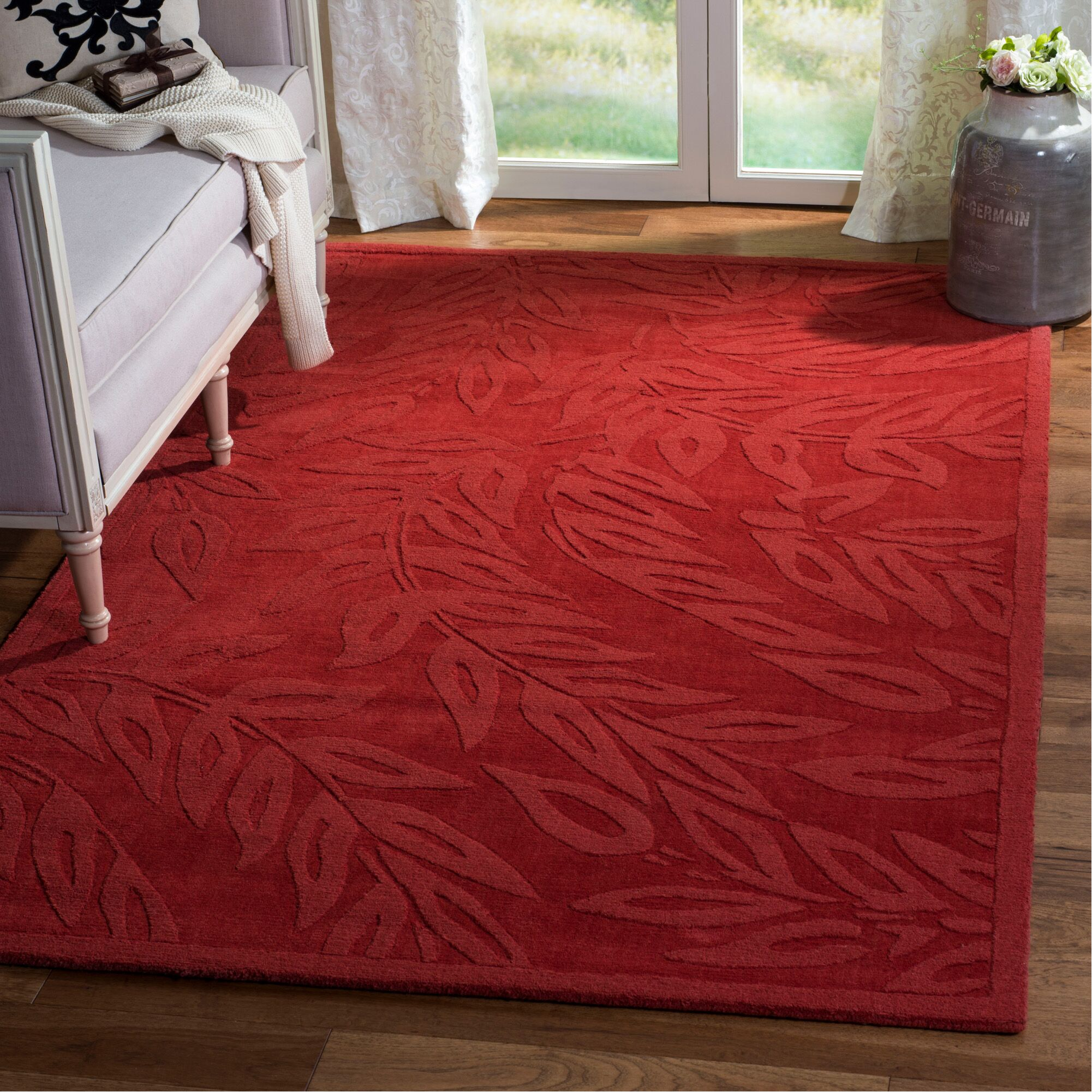Breeze Hand-Loomed Vermillon Area Rug Rug Size: Rectangle 9' x 12'