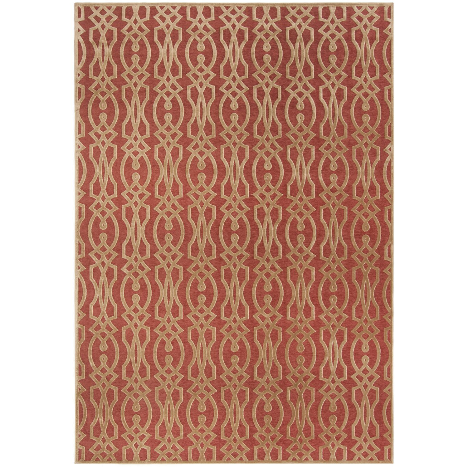 Villa Screen Red/Brown Area Rug Rug Size: Rectangle 8' x 11'2