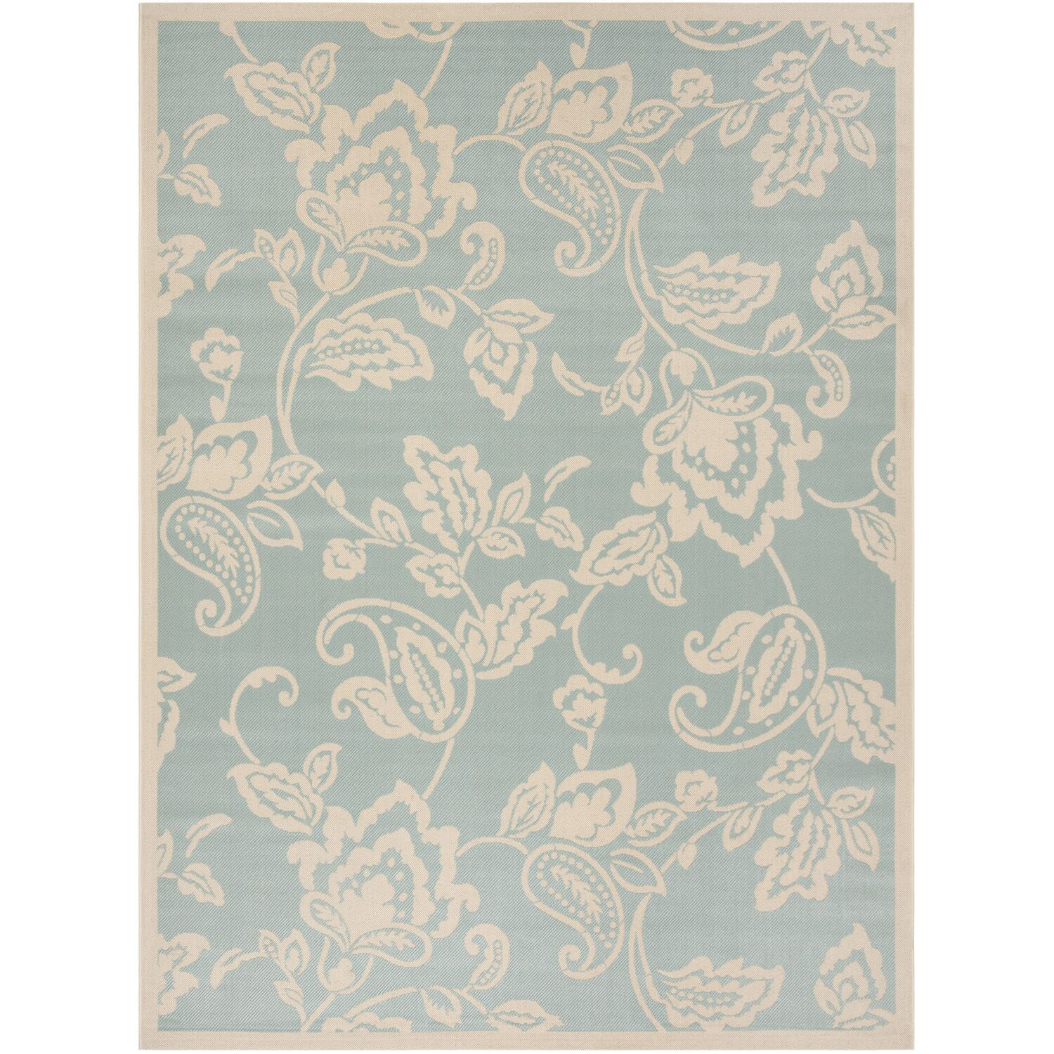 Berrima Aqua/Beige Area Rug Rug Size: Rectangle 8' x 11'2