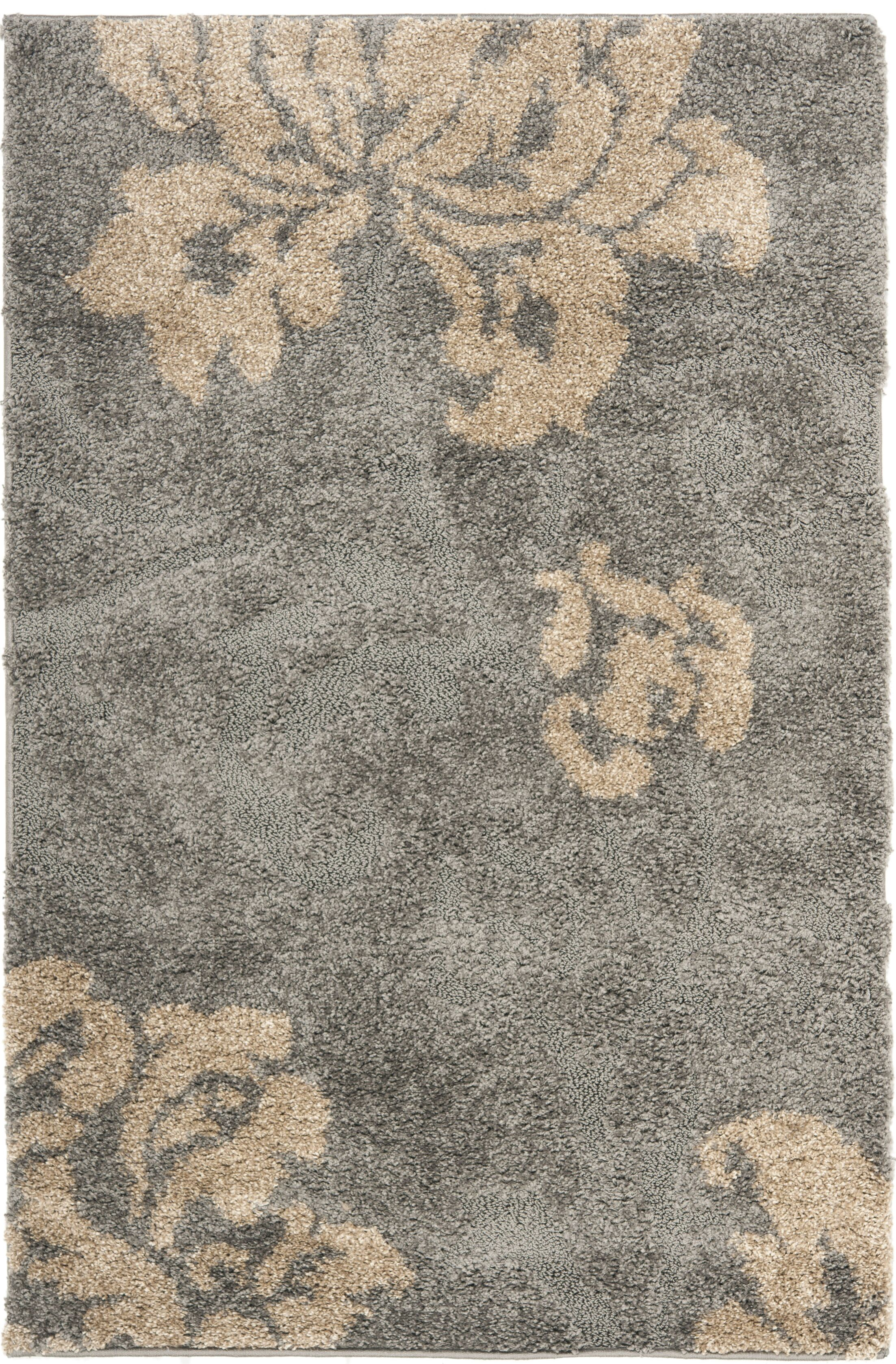 Marybell Shag Grey/Beige Area Rug Rug Size: Rectangle 6' x 9'