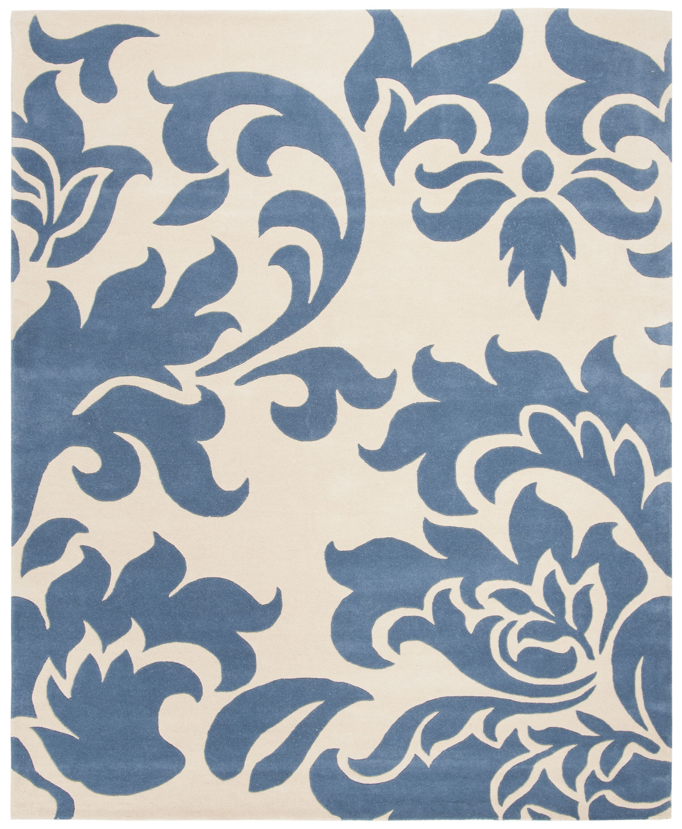 Martha Stewart Barcelona Tufted / Hand Loomed Blue/Beige Area Rug Rug Size: Rectangle 8' x 10'