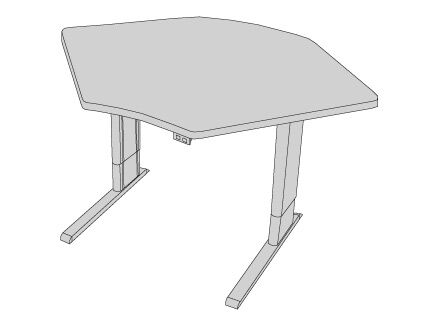 42'' W Infinity Height Adjustable Training Table Tabletop Finish: American Maple