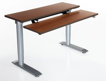 Vox Height Adjustable Training Table Tabletop Finish: Dove Gray, Size: 24