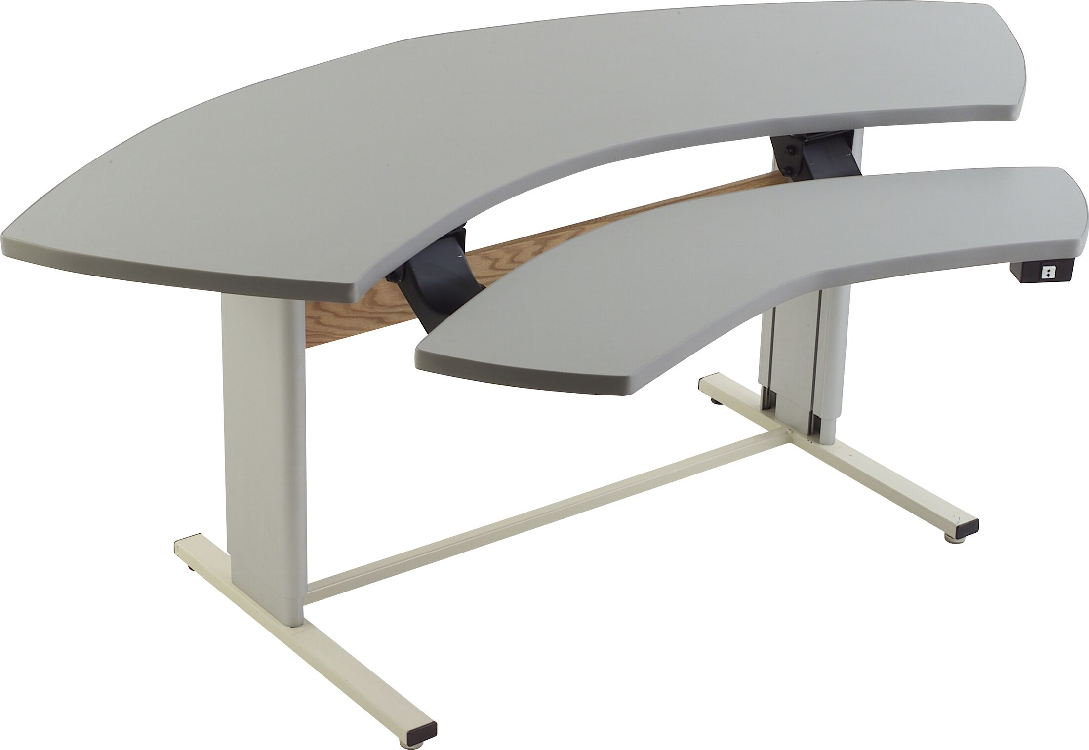 72'' W Infinity Height Adjustable Computer Table Tabletop Finish: Dove Gray