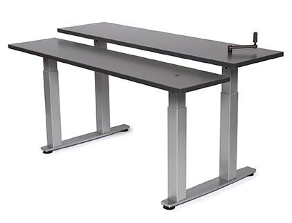 Equity Bi-Level Height Adjustable Computer Table Size: 38