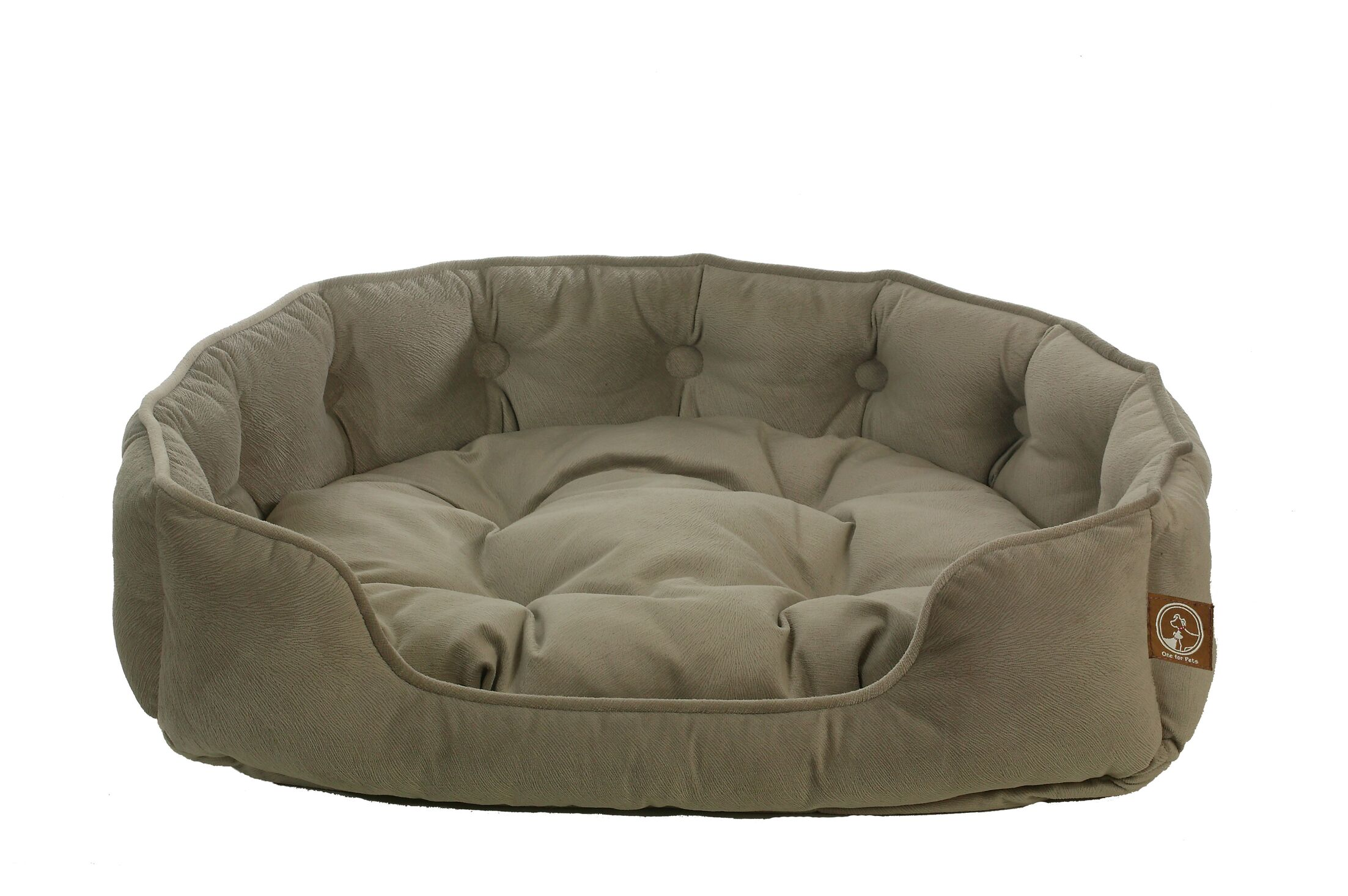 Faux Suede Snuggle Bolster Dog Bed Size: Small (21